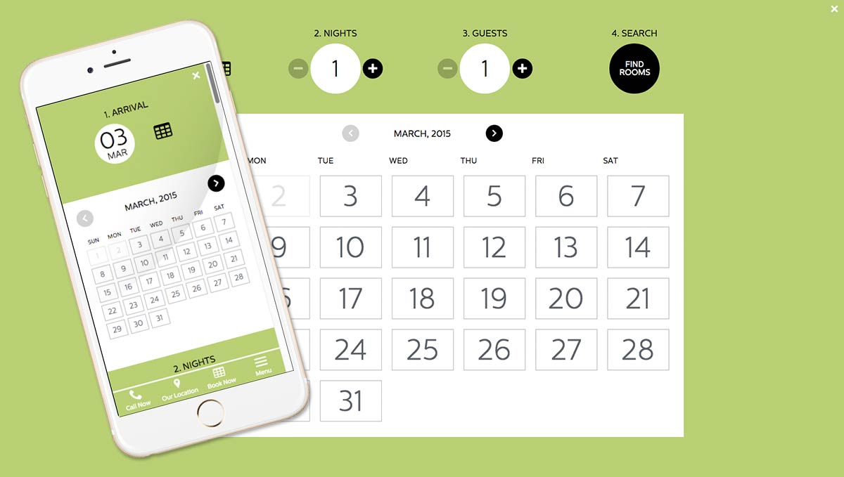 Custom booking calendar