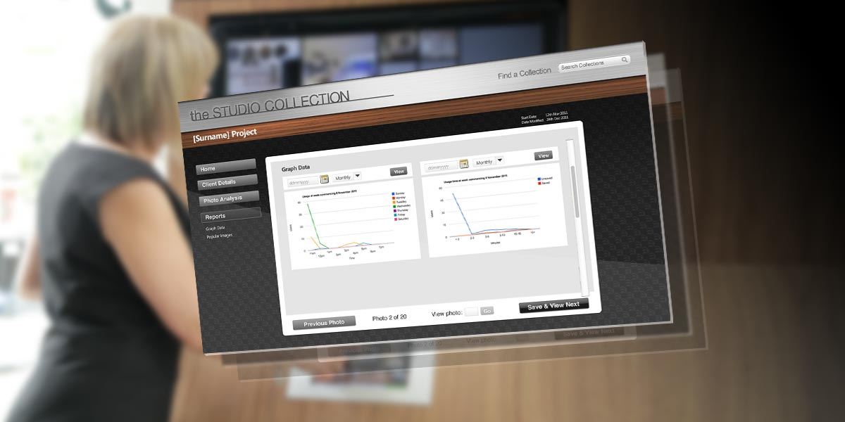 The Studio - iPad App Administration Screen